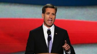 CHARLOTTE, NC - SEPTEMBER 06:  Attorney General of Delaware Beau Biden speaks on stage during the final day of the Democratic National Convention at Time Warner Cable Arena on September 6, 2012 in Charlotte, North Carolina. The DNC, which concludes today, nominated U.S. President Barack Obama as the Democratic presidential candidate.  (Photo by Alex Wong/Getty Images)